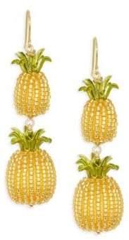Kate Spade Pineapple Double Drop Earrings