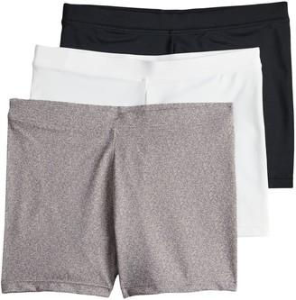 Maidenform Girls 4-12 2-pack + 1 Bonus Playground Pals Bike Shorts