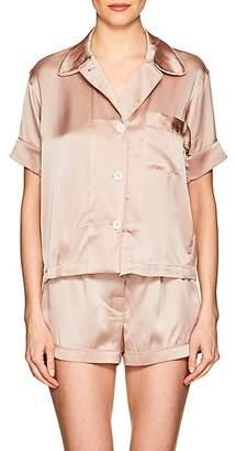 Araks Women's Shelby Silk Charmeuse Pajama Top - Light, Pastel pink