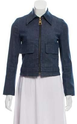 Louis Vuitton Zip-Up Denim Jacket