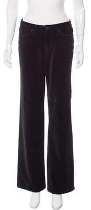 Christopher Blue Mid-Rise Velvet Pants