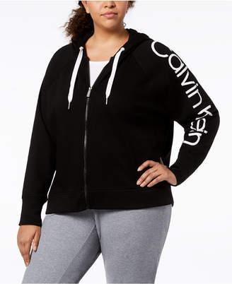 Calvin Klein Plus Size Logo-Print Hoodie