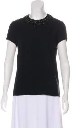 Ralph Lauren Black Label Embellished Short Sleeve Top