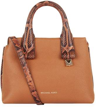 MICHAEL Michael Kors Small Leather Rollins Satchel