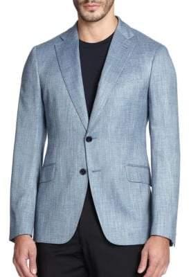 Armani Collezioni Solid Textured Sportcoat