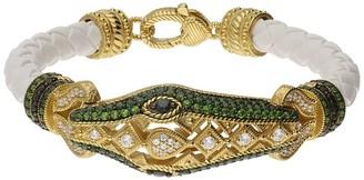 Judith Ripka 14K Clad Gemstone Sophie Snake Bracelet