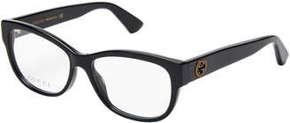 Gucci GG0098O Black Rectangle Optical Frames