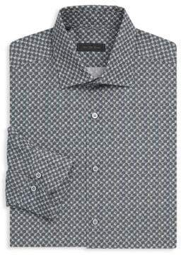 Saks Fifth Avenue COLLECTION Dotted Cotton Button-Down Shirt