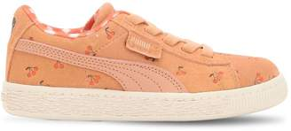 Puma X Tiny Cottons Allover Print Leather Platform Sneakers