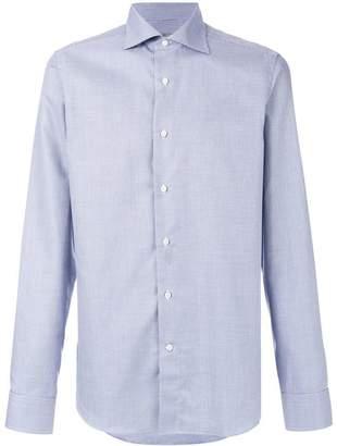 Canali small geometric patterned shirt