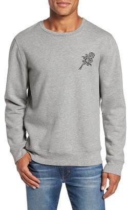 Frame Rose Embroidered Crewneck Sweatshirt