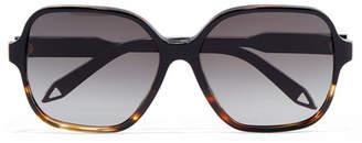 Victoria Beckham Oversized Square-frame Tortoiseshell Acetate Sunglasses