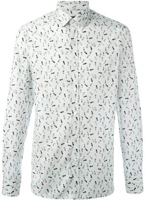 Lanvin footstep print shirt