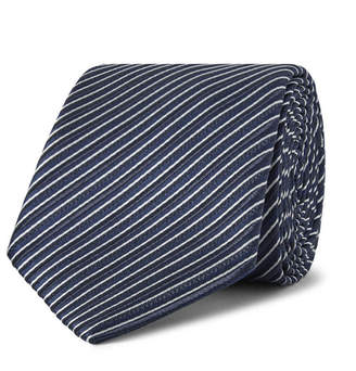 Ermenegildo Zegna 7cm Striped Silk Tie