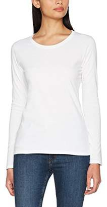 Fruit of the Loom Women's Valueweight LS Tee Lady-Fit T-Shirt,XS
