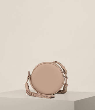 AllSaints Kepi Leather Round Crossbody Bag