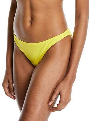 Milly St. Lucia Solid Swim Bikini Bottom, Yellow
