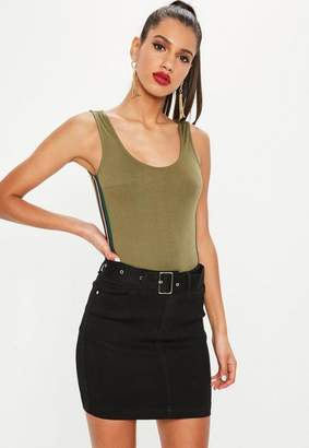 Missguided Black Denim Super Stretch Mini Skirt