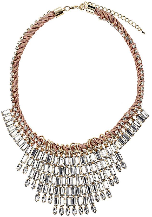 Topshop Twist Cord Rhinestone Collar