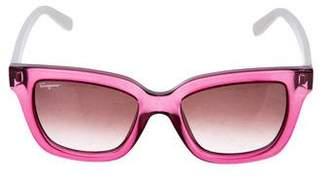 Salvatore Ferragamo Printed Square Sunglasses