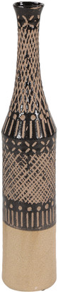 Uma Enterprises Tall Tan & Cylinder Decorative Vase