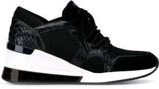 MICHAEL Michael Kors snakeskin heeled sneakers