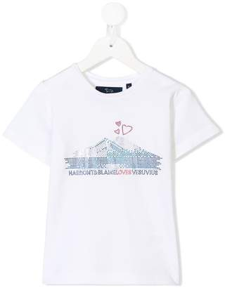 Harmont & Blaine Junior embellished logo T-shirt