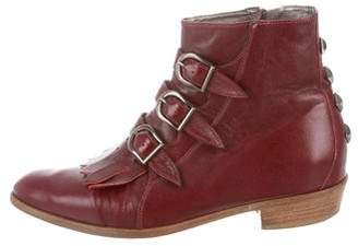 Modern Vice Leather Kiltie Ankle Boots