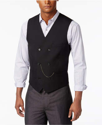 INC International Concepts I.N.C. Men's Slim-Fit Double-Breasted Chain Vest, Created for Macy's