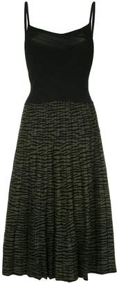 Proenza Schouler Tiger Jacquard Cami Knit Dress
