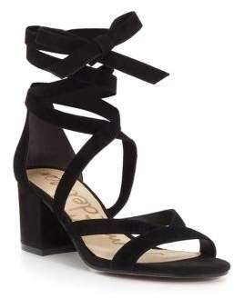 Sam Edelman Sheri Suede Block Heel Sandals $120 thestylecure.com