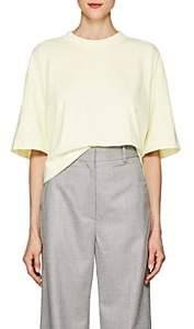 Acne Studios Women's Cylea Logo Cotton T-Shirt - Pale Yellow