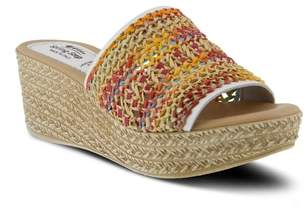 Spring Step Calci Espadrille Wedge Sandal
