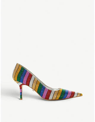 Dune Arainbow glitter court shoes