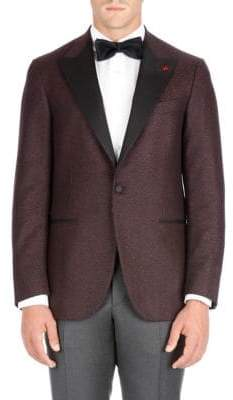 Isaia Peak Lapel Wool Dinner Jacket