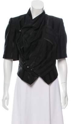 Zac Posen Structured Short Sleeve Jacket