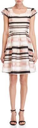 Yumi Striped Organza Dress
