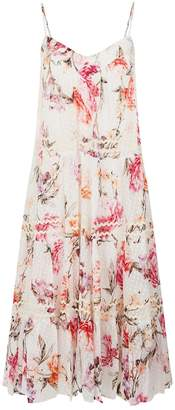 Nicholas Lucile Tiered Floral Midi Dress