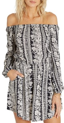 Billabong Scenic Roads Off the Shoulder Dress $54.95 thestylecure.com