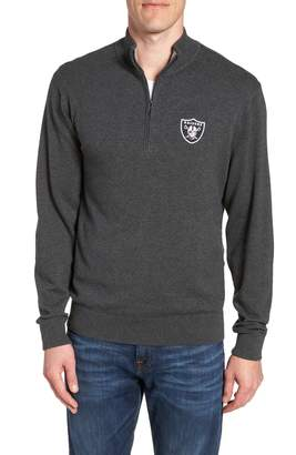 Cutter & Buck Oakland Raiders - Lakemont Regular Fit Quarter Zip Sweater