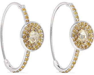 Amrapali 18-karat White Gold Sapphire Hoop Earrings