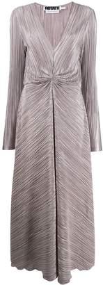 Rotate micro-pleated dress