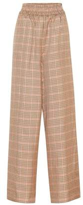 Golden Goose Plaid wide-leg pants
