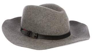 Eugenia Kim Wool Leather-Trimmed Fedora Hat