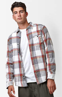 Hurley Burnside Washed Plaid Long Sleeve Button Up Shirt