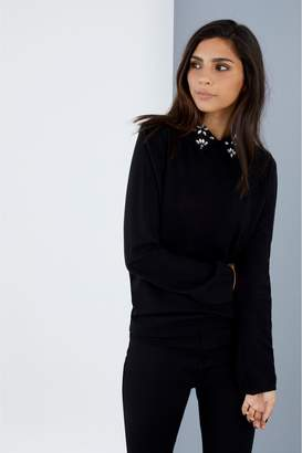Next Womens Society 8 Embellished Collar Knitted Jumper