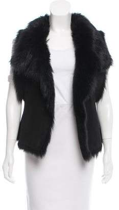 Figue Shearling Shawl-Lapel Vest
