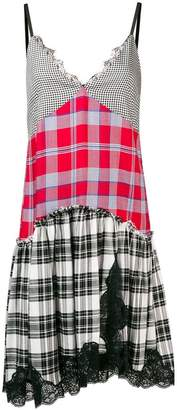 Semi-Couture Semicouture contrast panel check dress