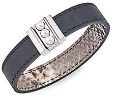 Majorica Women's Amazona 5MM Mabé Pearl Leather Magnetic Bracelet