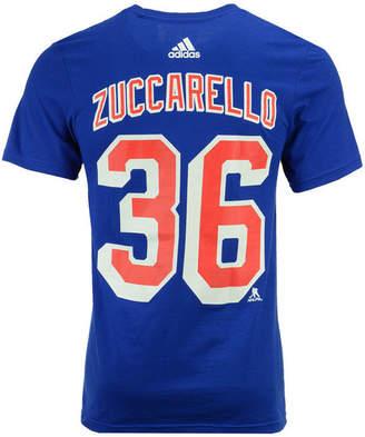adidas Men's Mats Zuccarello New York Rangers Silver Player T-Shirt